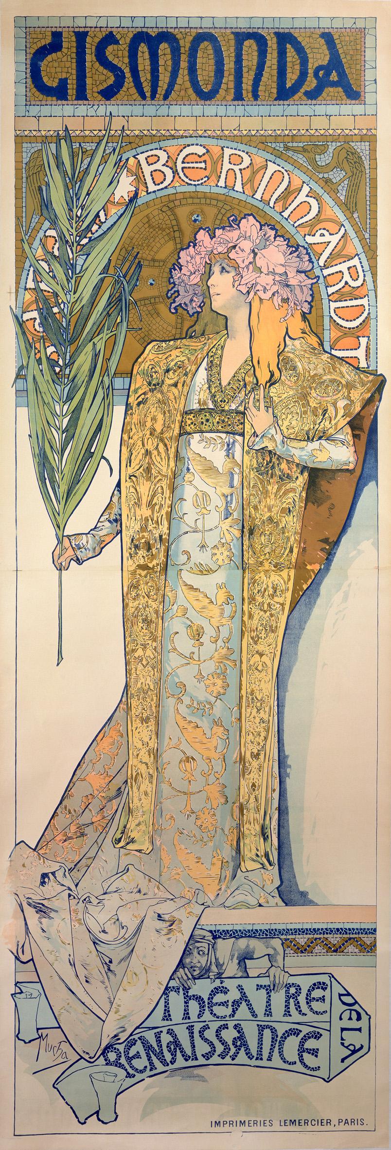 Alphonse Mucha Gismonda 1894 Litografia a colori, 216x74,2 cm © Mucha Trust 2016