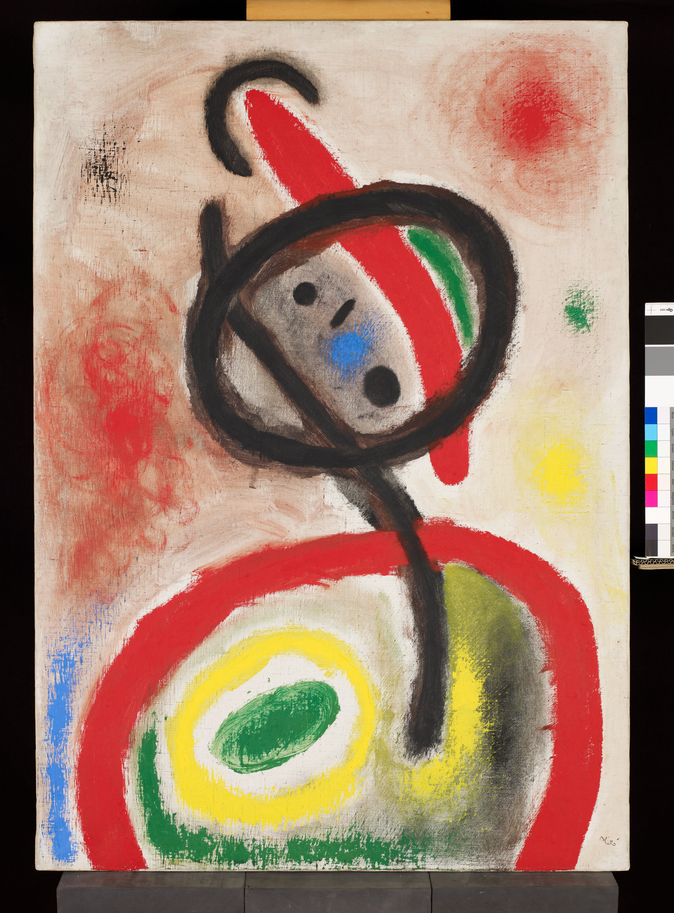 Donna III, 1965 Olio e pittura acrilica su tela