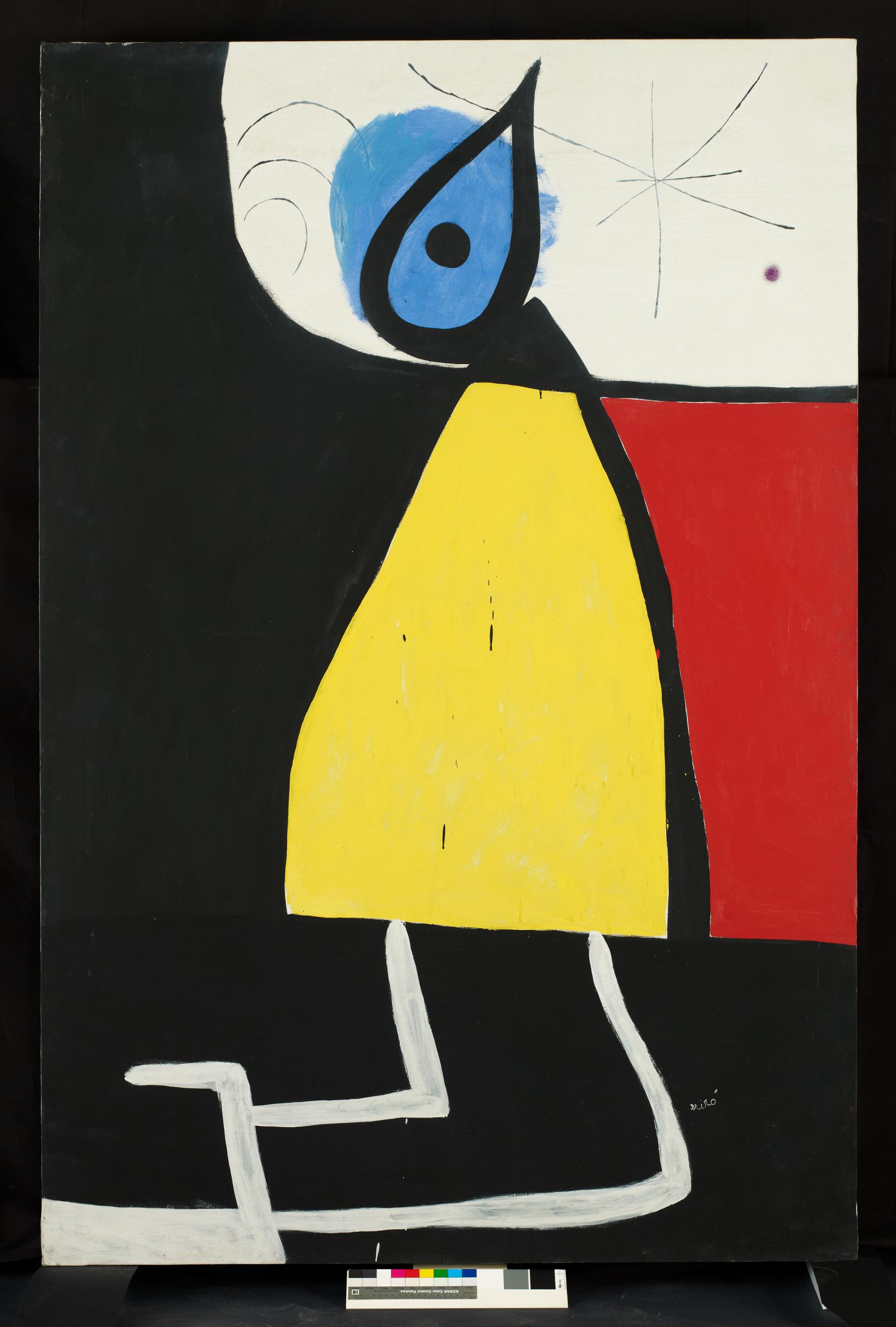 Donna nella notte, 1973 Pittura acrilica su tela
