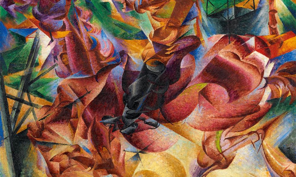 Umberto Boccioni, Elasticità, 1912 olio su tela, 100x100 cm Milano, Museo del Novecento, Collezione Jucker