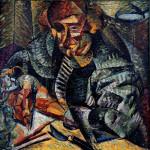 Umberto Boccioni, Antigrazioso, 1912-1913 olio su tela, 80 x 80 cm Torino, Fondazione F.C. per l'Arte