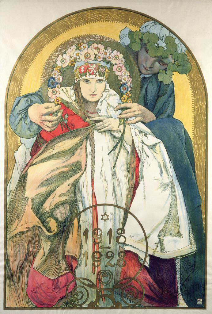 Alphonse Mucha 1918-1928, manifesto per il decimo anniversario della Repubblica ceca 1928 Litografia a colori, 121x83,5 cm © Mucha Trust 2016