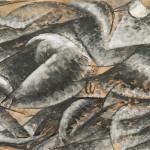 Umberto Boccioni, Voglio fissare le forme umane in movimento (Dinamismo di un corpo umano), 1913 grafite, inchiostro nero a penna, acquerello nero e tempera bianca, con tracce di matita blu, su carta, 208 × 308 mm Milano, Civico Gabinetto dei Disegni del Castello Sforzesco