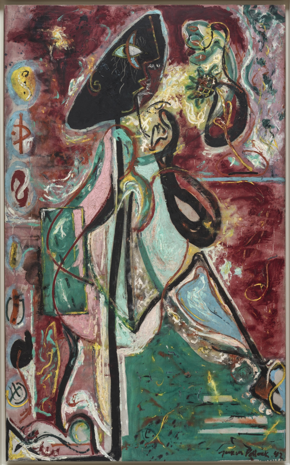 Jackson Pollock (Cody 1912-East Hampton 1956) La donna luna (The Moon Woman), 1942