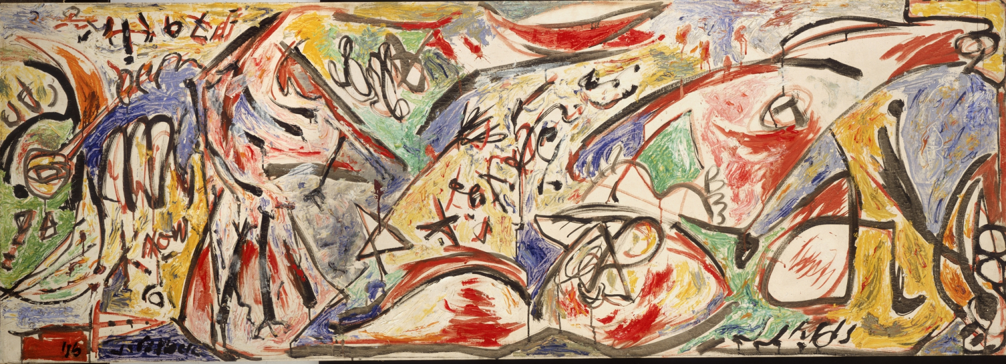 Jackson Pollock (Cody 1912- East Hampton 1956) Bufalo d'acqua (dalla serie Accabonac Creek) (The Water Bull from the Accabonac Creek series) 1946