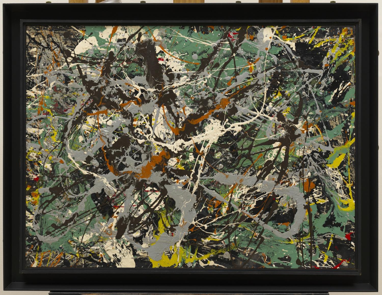 Jackson Pollock (Cody 1912- East Hampton 1956) Senza titolo (Argento verde) ([Green Silver]) 1949