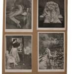 Umberto Boccioni, Atlante delle immagini, 1895-1909 22 tavole con ritagli di riproduzioni artistiche e altri materiali a stampa su carta color paglierino, 59 × 39 cm ciascuna