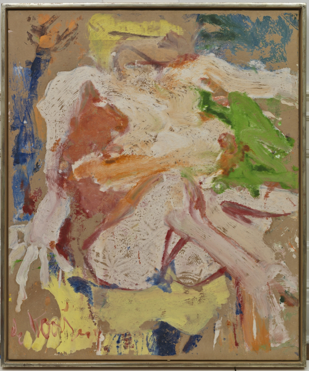 Willem de Kooning (Rotterdam 1904-East Hampton 1997) Nudo- Donna sulla spiaggia, 1963