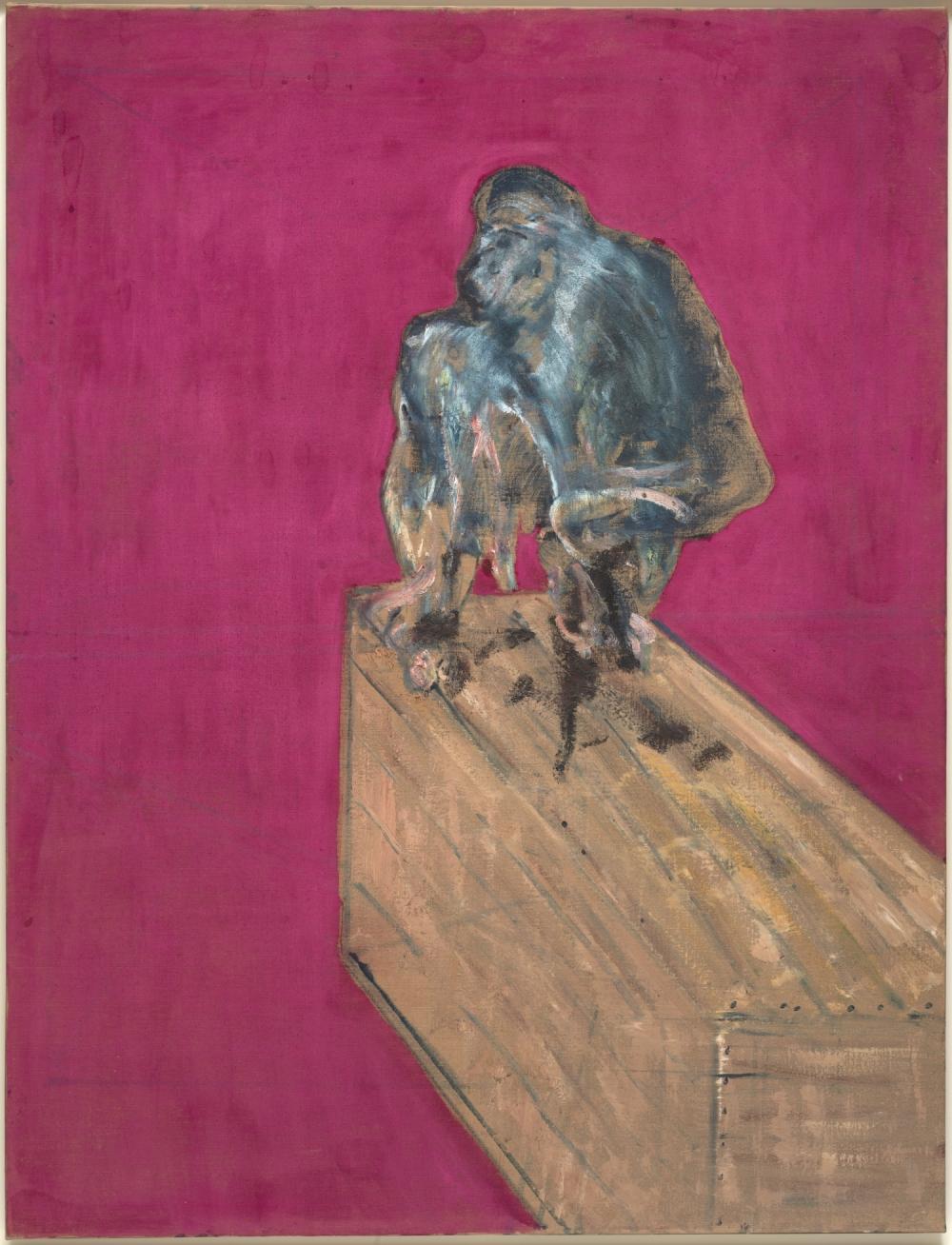 Francis Bacon (Dublino 1909-Madrid 1992) Studio per scimpanzè, marzo 1957
