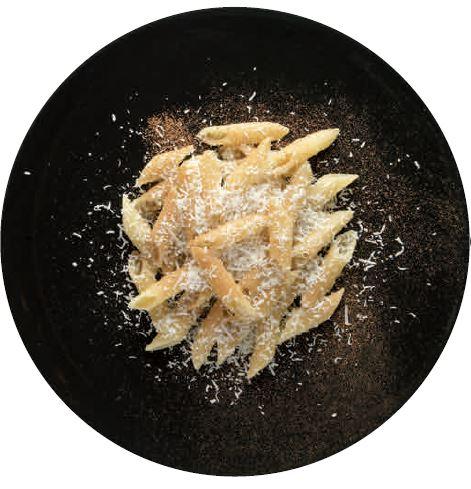 Penne, miele d'acacia, cannella e pecorino romano / 2005