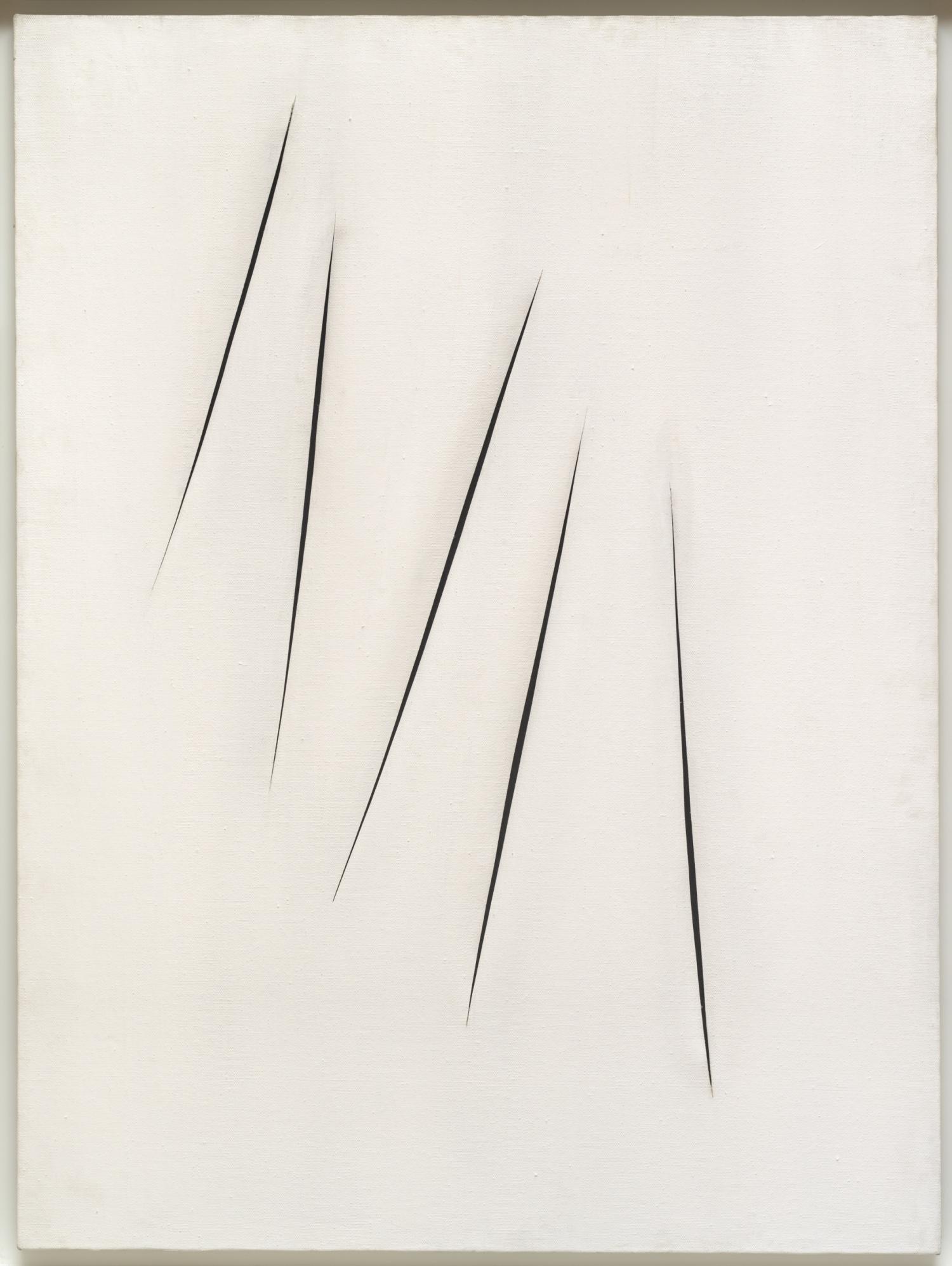 Lucio Fontana (Rosario di Santa Fe 1899-Varese 1968) Concetto spaziale, Attese, 1965