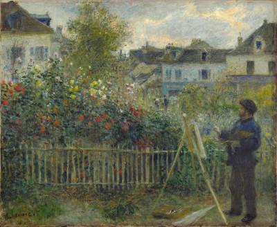 Auguste Renoir, Monet Painting in His Garden at Argenteuil (1873)