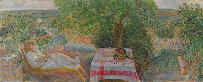 Bonnard, Resting in the Garden (1914)