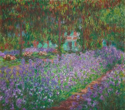 Calude Monet, Le jardin de l'artiste à Giverny (1900)