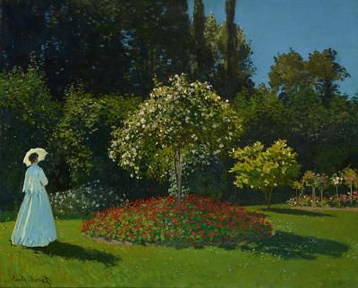 Claude Monet, Lady in the Garden (1867)
