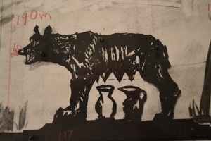 William Kentridge Capitoline Wolf II, 2016