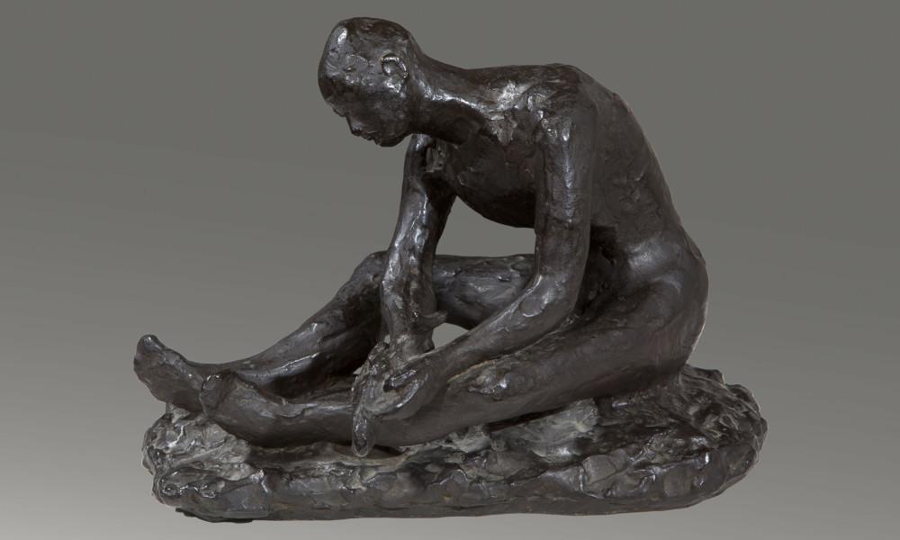 Herta Ottolenghi Wedekind (Berlino 1885 - Acqui Terme 1953) Tobiolo, 1912 ca. scultura in bronzo Arquà Petrarca, Collezione Copercini e Giuseppin