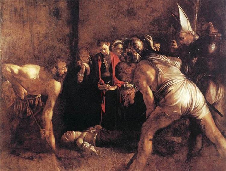 Seppellimento di Santa Lucia di Caravaggio - Siracusa