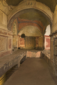 Cappella greca (Catacombe di Priscilla)