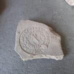 Bollo laterizio dell'officinatrice Calvenzia Massima Museo dei Fori Imperiali di Roma