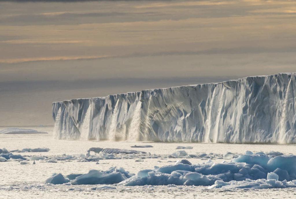 Isola Svalbard giacciaio