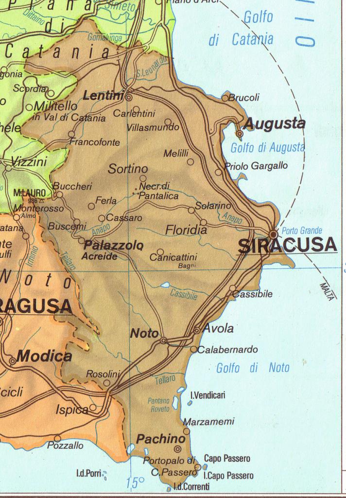 Mappa Siracusa
