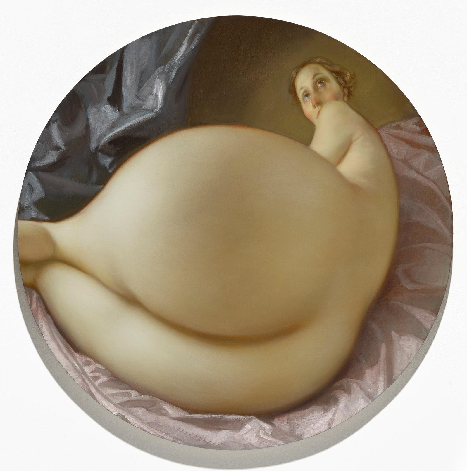 nude in a convex mirror currin