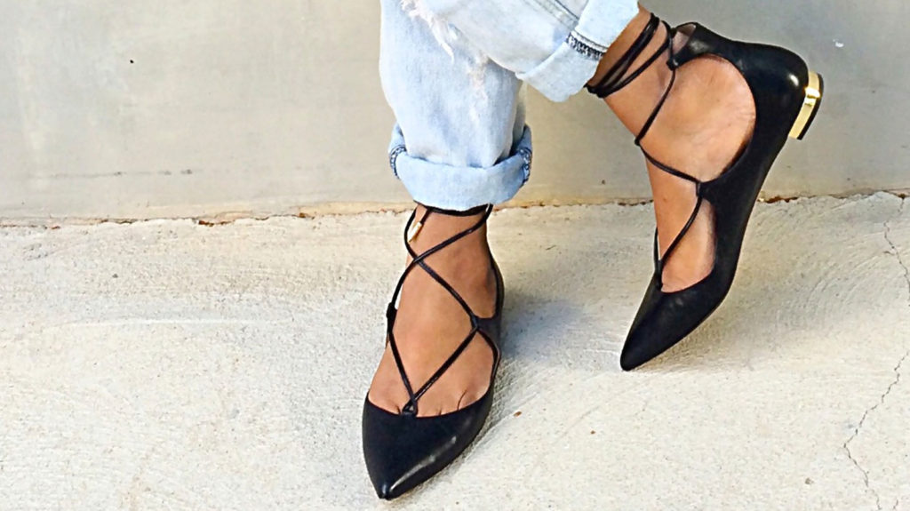 Acquazzurra lace up flats