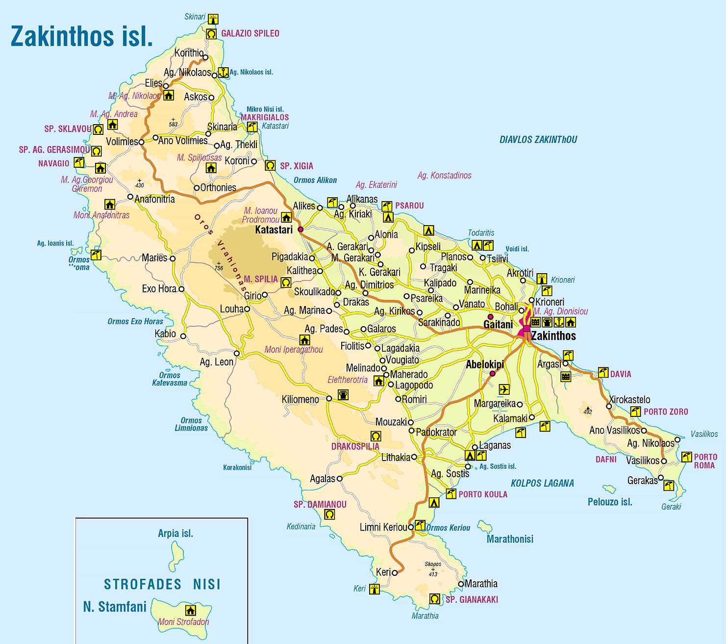 Zakinthos-Tourist-Map