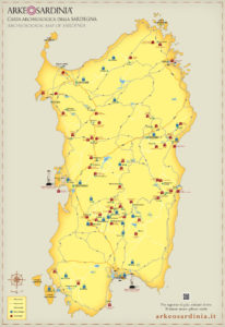Mappa archeologica (fonte Arkeosardinia.it)