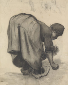 Peasant woman gleaning, July - August 1885 Vincent Van Gogh/The Kröller-Müller Museum