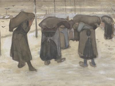 Women carrying sacks of coal in the snow, November 1882/The Kröller-Müller Museum