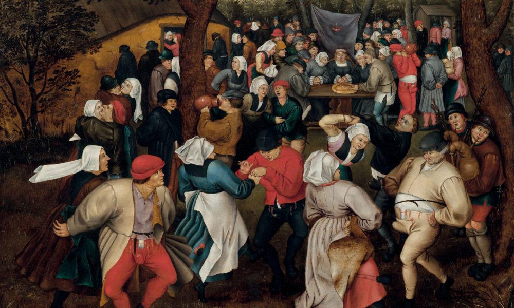 Pieter Brueghel il Giovane Danza nuziale all'aperto 1610 ca. Olio su tavola, 74,2x94 cm Collezione privata U.S.A.