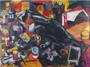 renato-guttuso-lo-studio-dellartista-1963-galleria-de-bonis