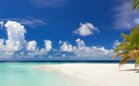 Spiaggia nelle Maldive