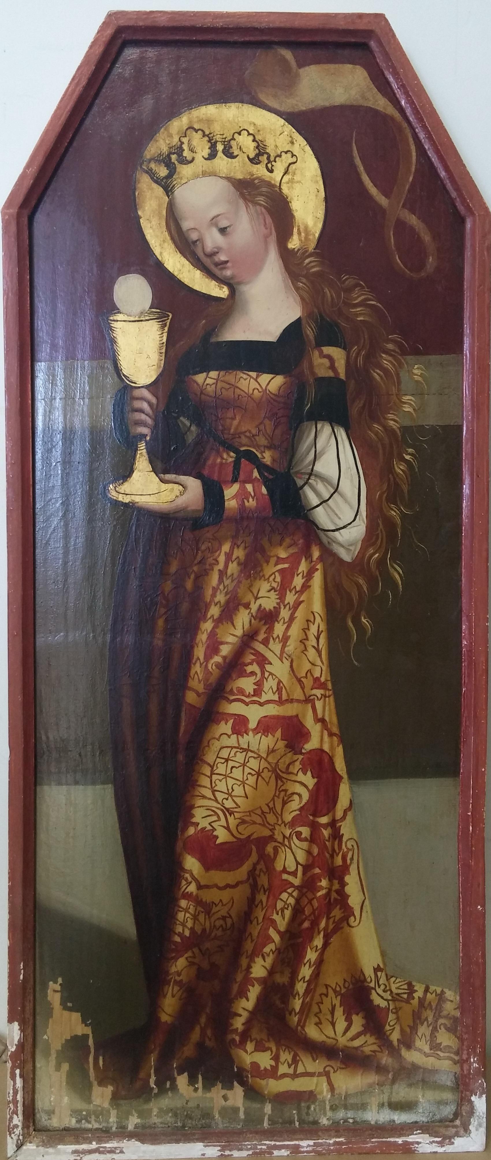 12 dipinti ad olio su tavola a fondo oro, austria