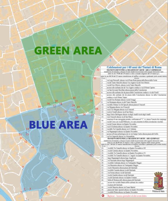 mappa blue area