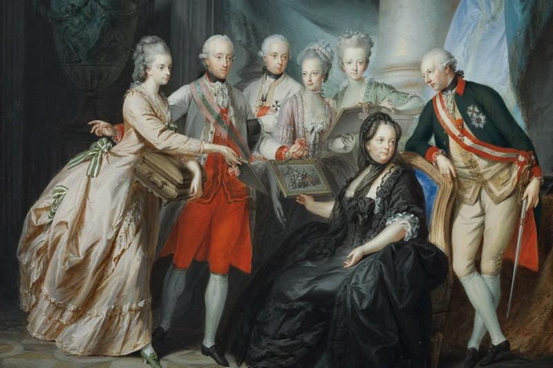 Maria Teresa con i figli, Friedrich Heinrich Füger (1776)