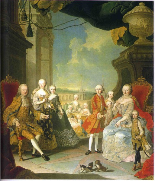 Famiglia di Maria Teresa, Martin van Meytens (1754)