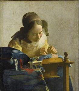 Vermeer, La Merlettaia ©RMN-Grand Palais (musée du Louvre)