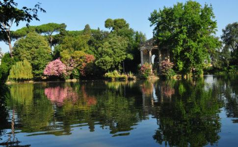 Lago a Villa Borghese, il verde a Roma