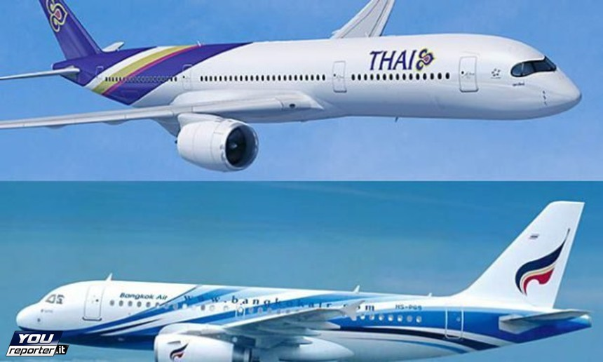 Aerei di THAI e Bangkok Airways
