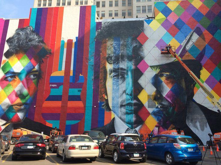 Murale a Dylan a Minneapolis