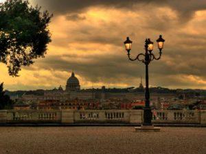 Il Pincio di Roma. Colle dei Giardini