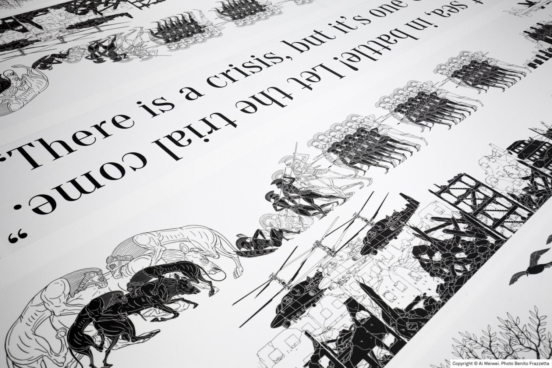 """""""Odyssey"""", l'installazione realizzata da Ai Weiwei."""
