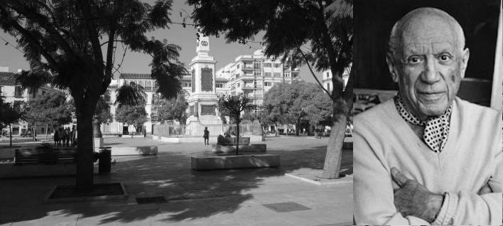 Picasso e Plaza de la Merced a Malaga (città imperdibili)