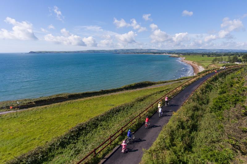 Paesaggio della Greenway, in Irlanda