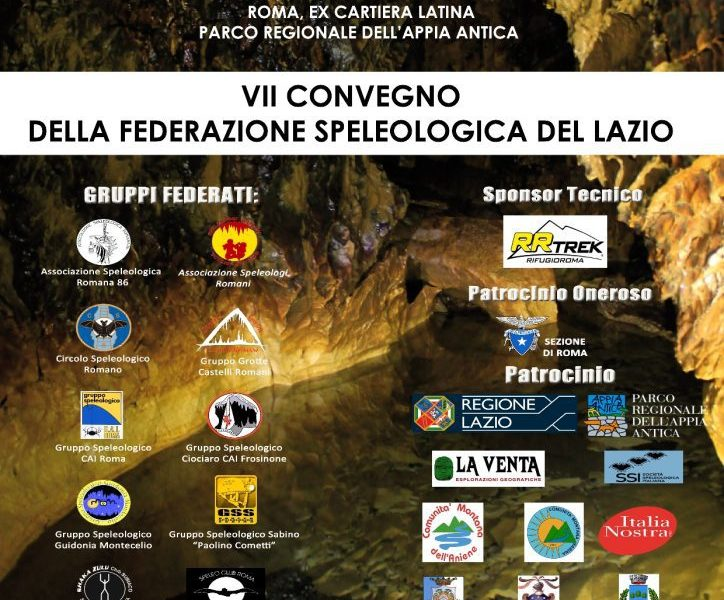 VII Convegno Federazione Speleologica del Lazio, 5-7 maggio 2017, Roma
