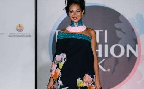 Scatto durante la Tahiti Fashion Week