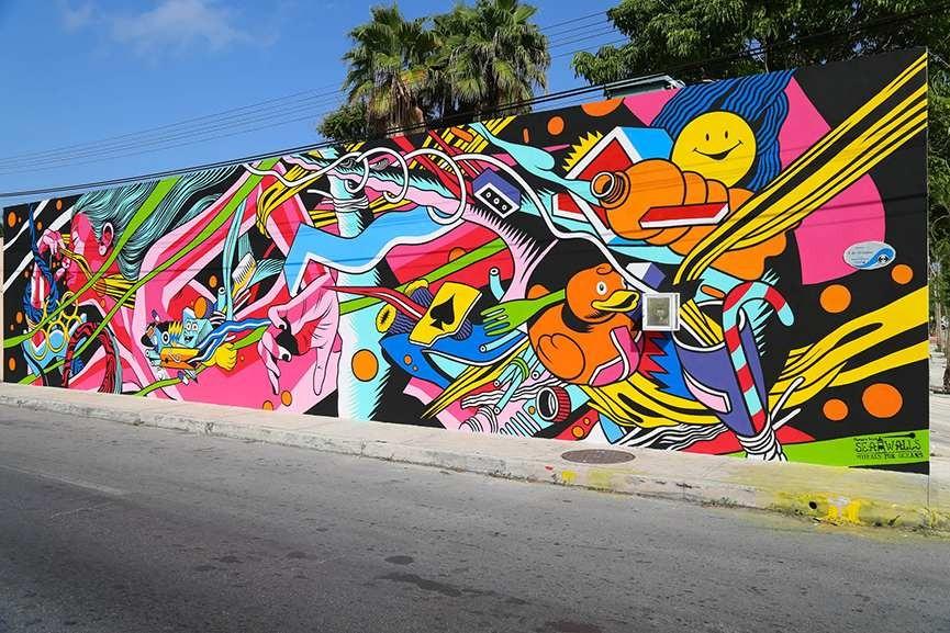 Murales a Messico in 2015 (Bicicleta Sem Freio)